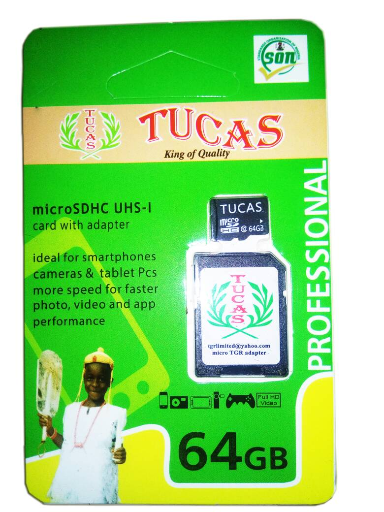 TUCAS 64GB MEMORY CARD