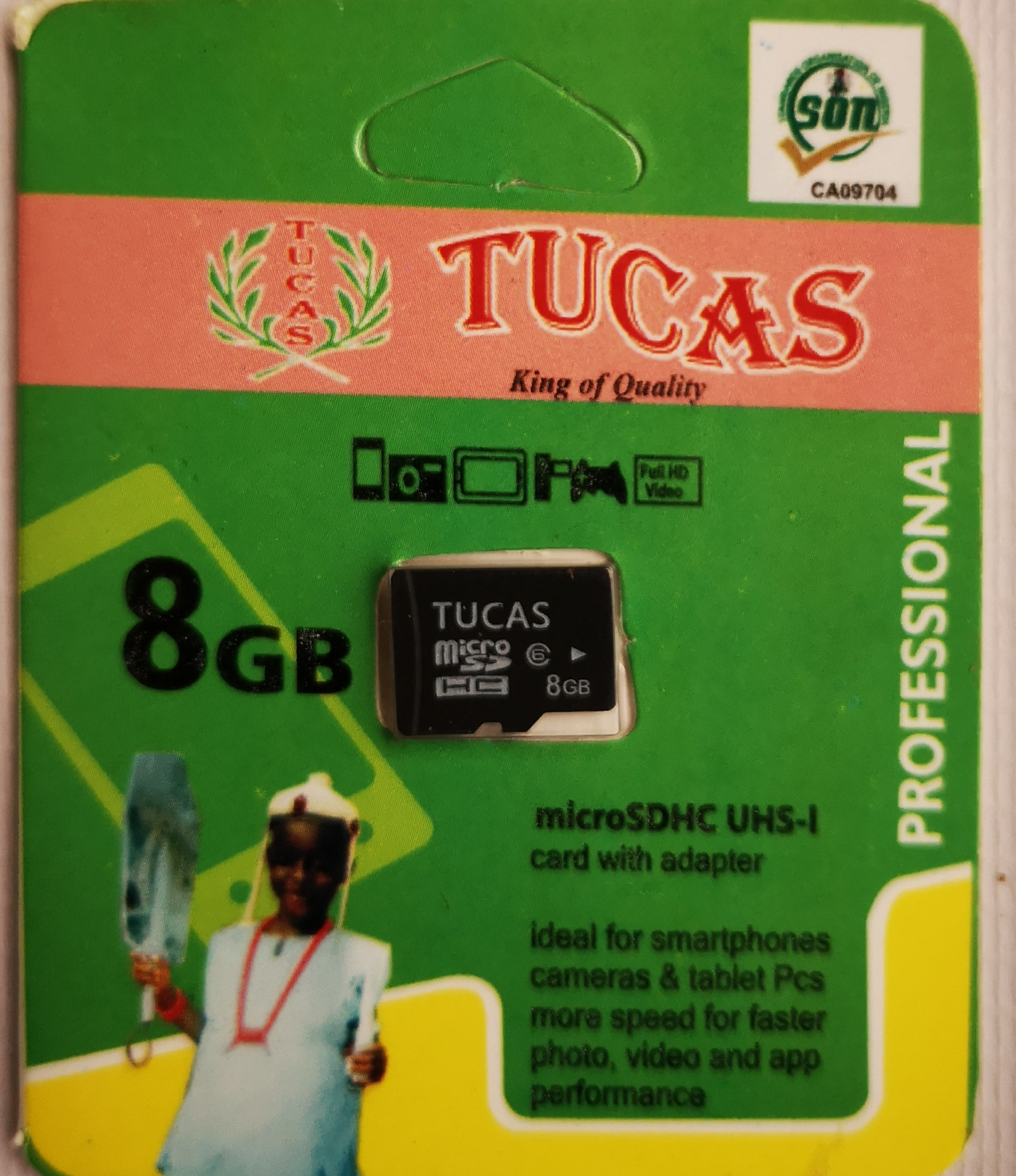 Tucas 8gb memory card mini pack