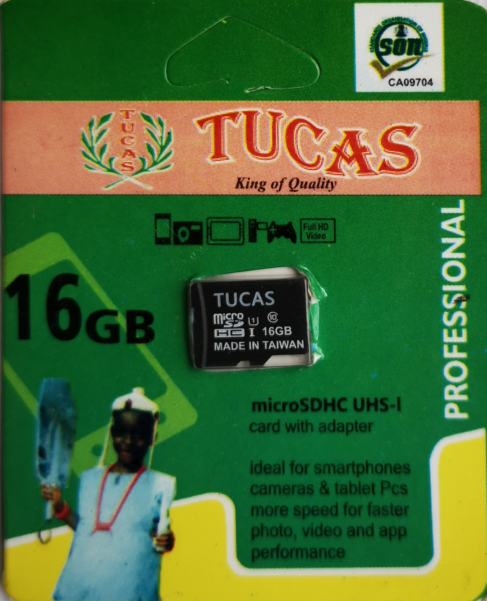 Tucas 16gb memory card mini pack