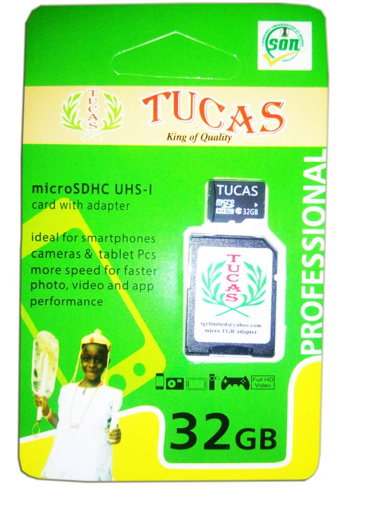 TUCAS 32GB MEMORY CARD