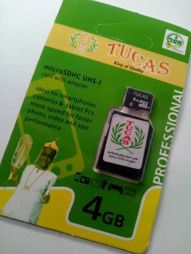 TUCAS 4GB MEMORY CARD