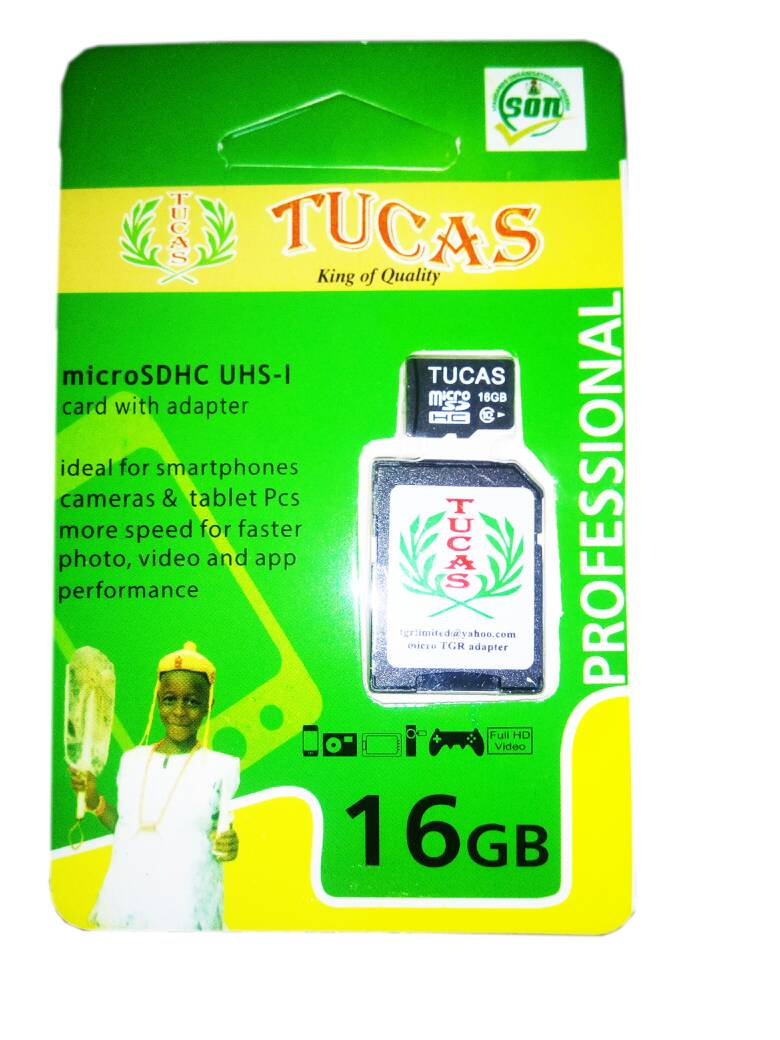 TUCAS 16GB MEMORY CARD