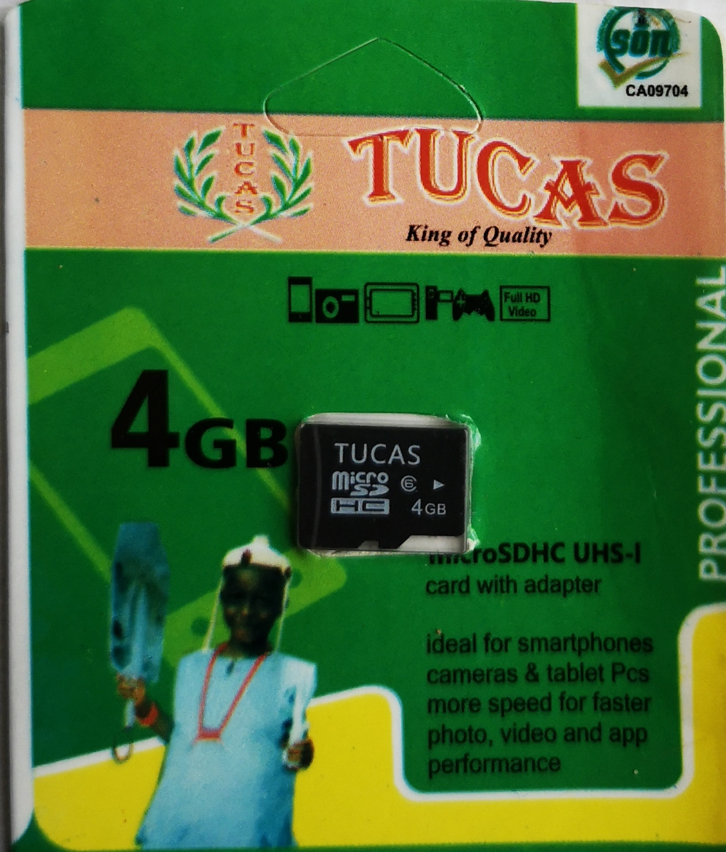 Tucas 4gb memory card mini pack